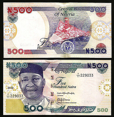 Nigeria 500 naira 2016