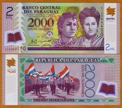 Paraguay 2000 guaranies (polymer)