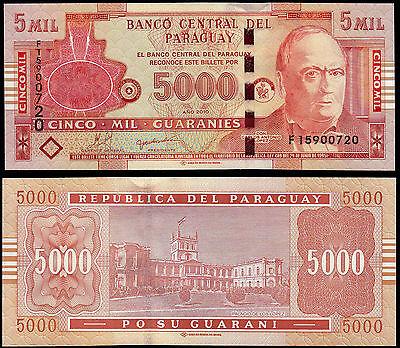 Paraguay 5000 Guaranies 2010