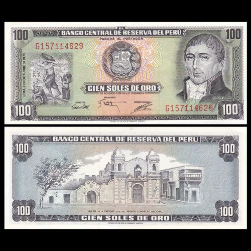 Peru 100 soles de oro 1975