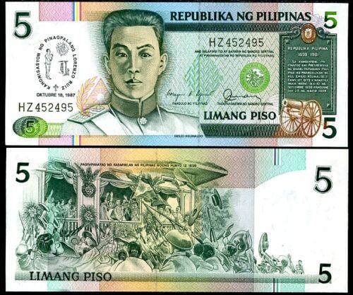 Philippine 5 peso 1987