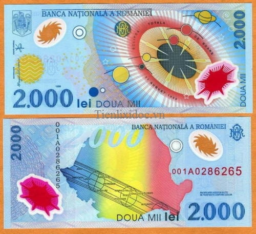 Romania 2000 leu polime