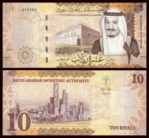 Saudi Arabia 10 Riyal 2016