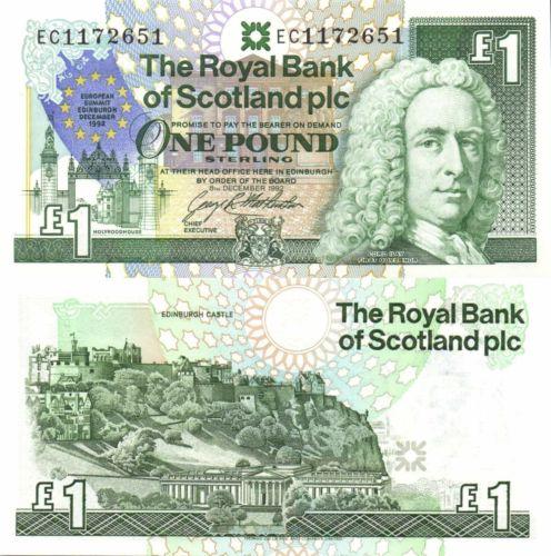 Scotland 1 pound 1992
