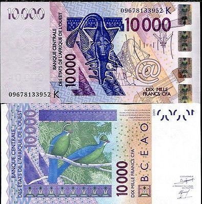 Senegal 10.000 francs 2003