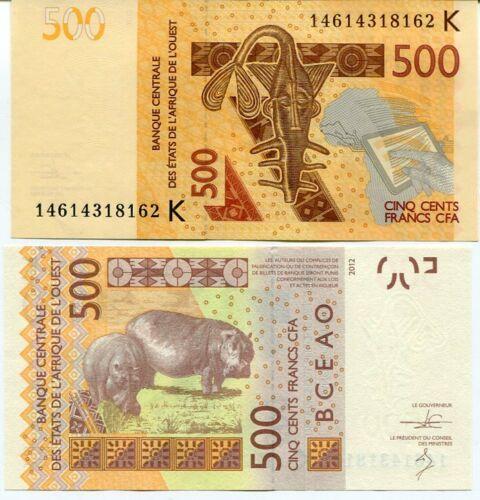Senegal 500 francs 2014