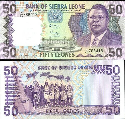 Sierra Leone 50 leones 1989