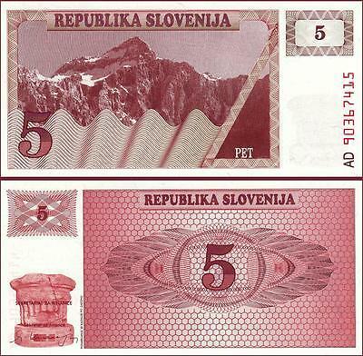 Slovenia 5 tolarjev 1990