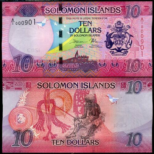 Solomon islands 10 dollars 2017