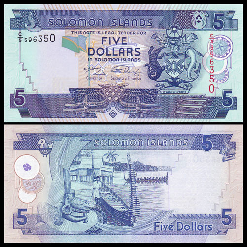 Solomon islands 5 dollars 2006