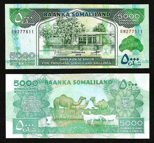 Somaliland 5000 shilling 2015