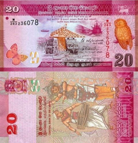 Sri Lanka 20 rupees 2015
