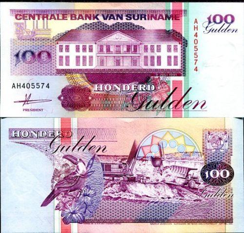 Suriname 100 gulden 1991