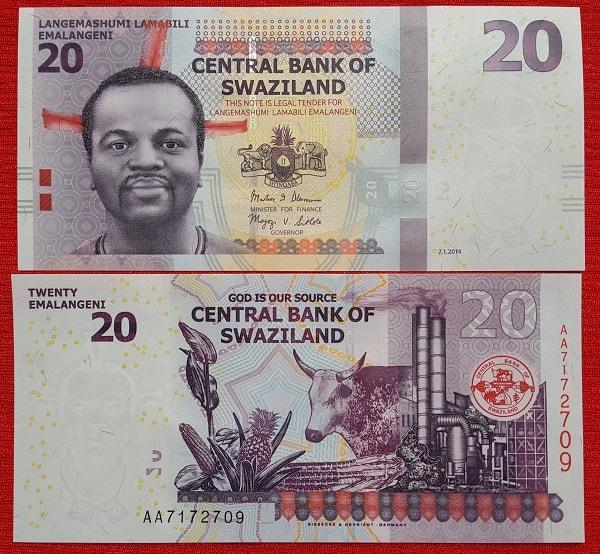Swaziland 20 lilangeni 2011
