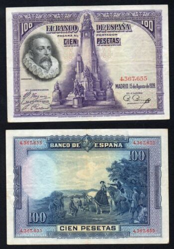 Tây Ban Nha 100 pesetas 1928