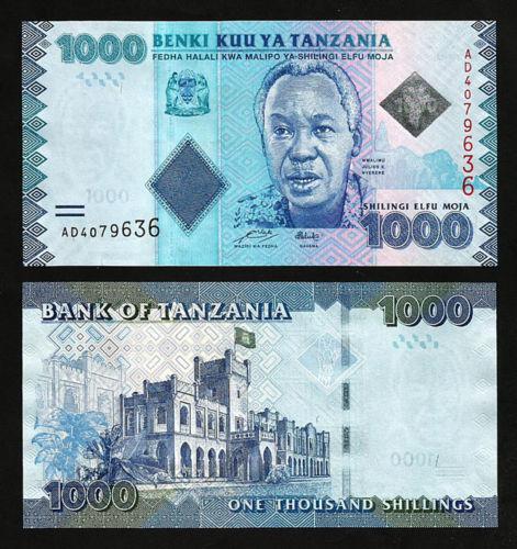 Tazania 1000 shilling 2010