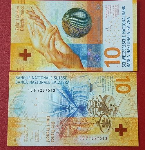 Thụy Sĩ 10 francs hybrid 2017