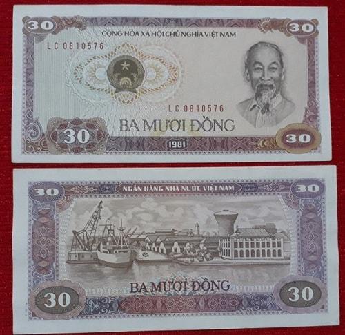 Tiền 30 Đồng Đỏ 1981