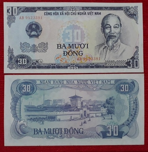 Tiền 30 Đồng Xanh 1985
