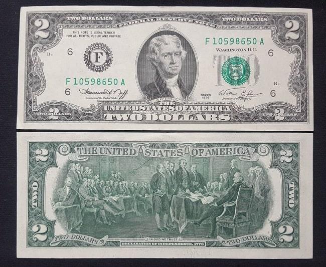 Tiền 2 Usd 1976 Mới 100%