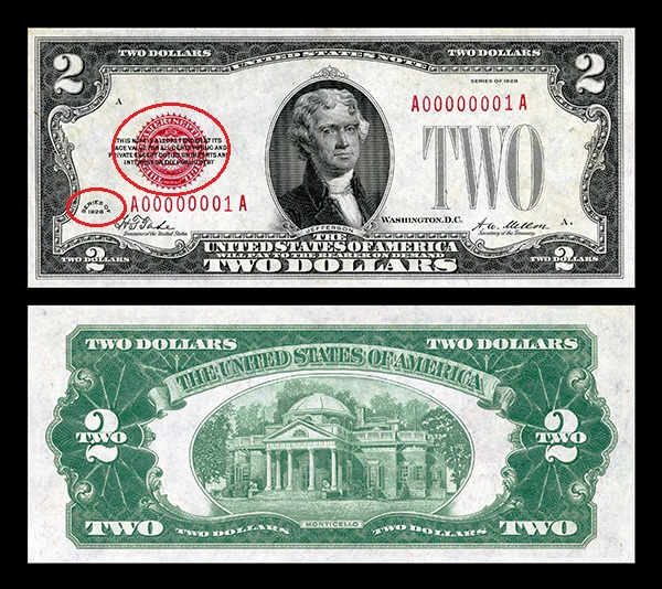 Tiền 2 Usd Năm 1928