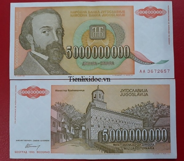 Tiền 5 Tỷ Nam Tư