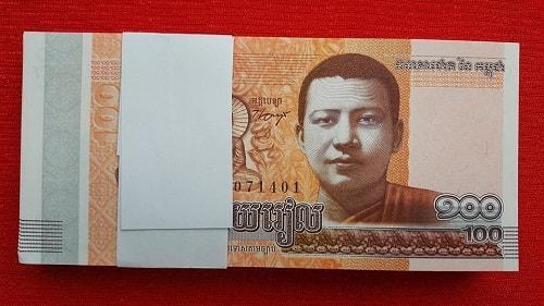 100 Tờ Tiền Campuchia Hình Phật 100 Riel