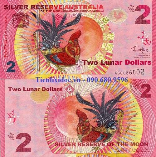 Tiền Con Gà 2 dollars Úc