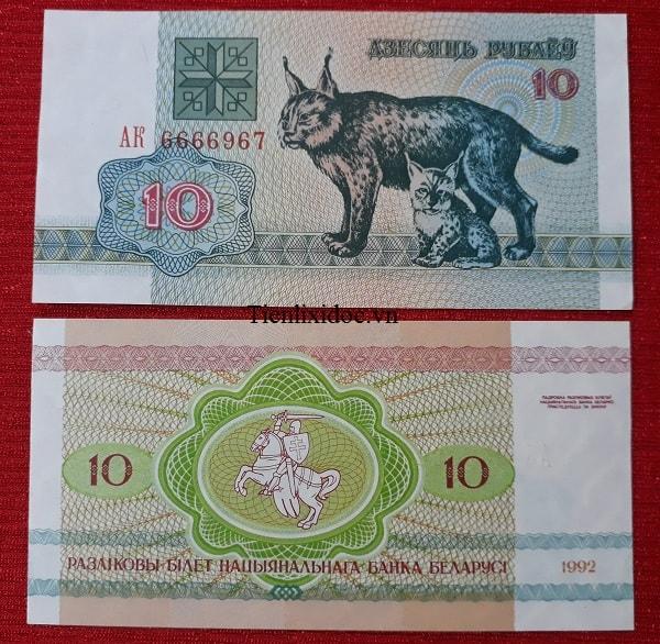 Tiền Lì Xì Người Tuổi Mèo - Tiền Belarus