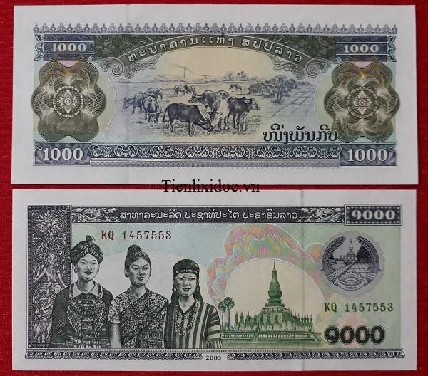 Tiền Lì Xì Người Tuổi Trâu - Tiền Lào