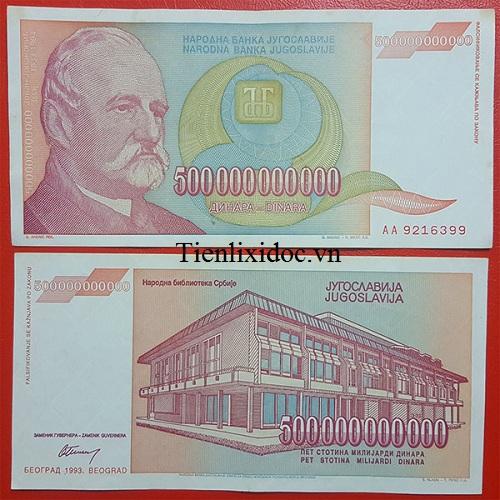 Tiền Mệnh Giá Khủng 500 Tỷ Nam Tư