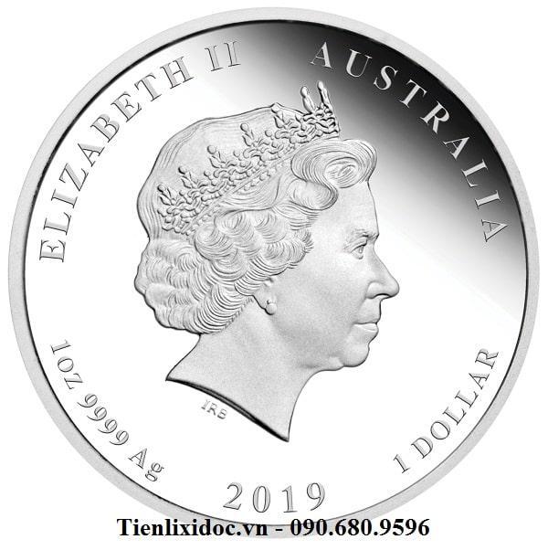 Tiền Xu Úc Hình Con Heo Mạ Bạc