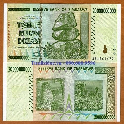 Tiền Zimbabwe 20 Tỷ Lì Xì Tết