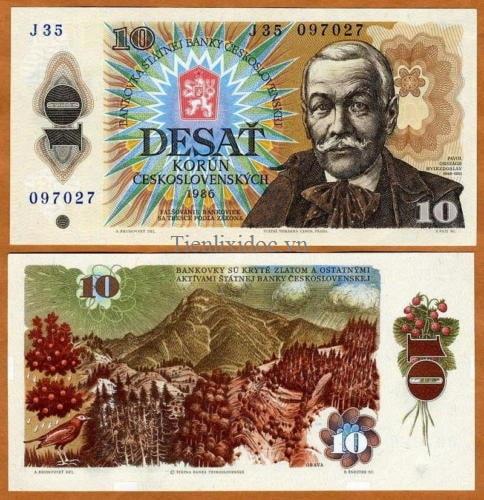 Tiệp Khắc 10 korun 1986