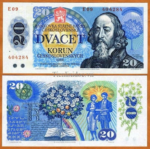 Tiệp Khắc 20 korun 1988