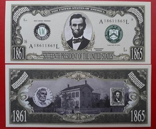 Bộ Tiền Triệu Đô 45 Tổng Thống Mỹ