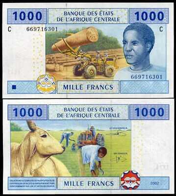 Trung Phi 1000 francs 2002