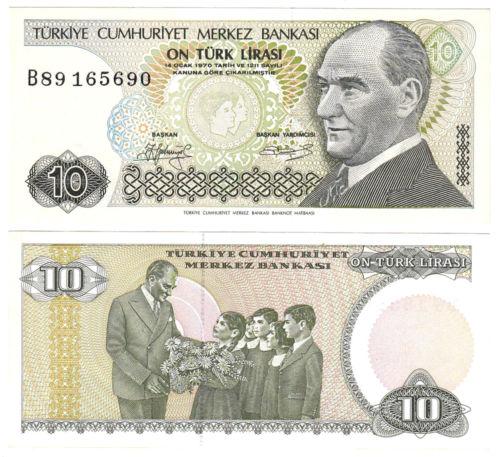 Turkey 10 lira 1970