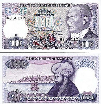 Turkey 1000 lira 1970