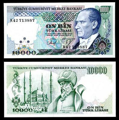 Turkey 10.000 lira 1970