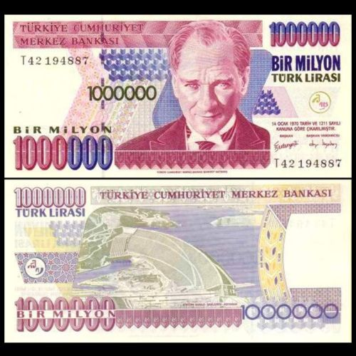 Turkey 1.000.000 lira 1970