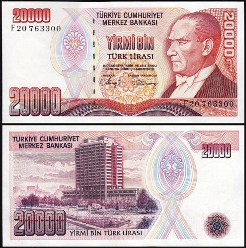 Turkey 20.000 lira 1970