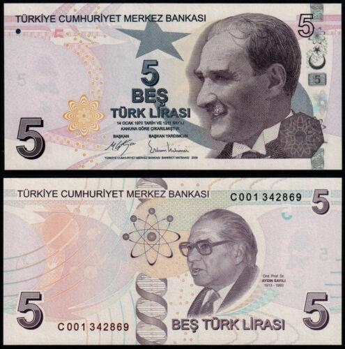 Turkey 5 lira 2009