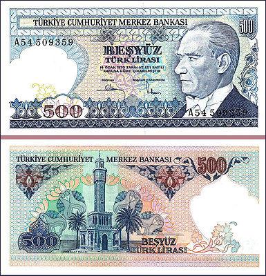 Turkey 500 lira 1970