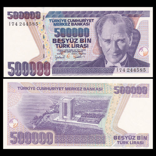 Turkey 500.000 lira 1970
