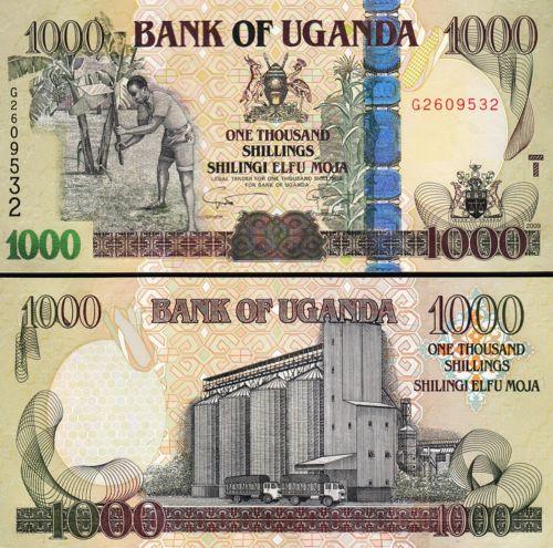 Uganda 1000 shillings 2009