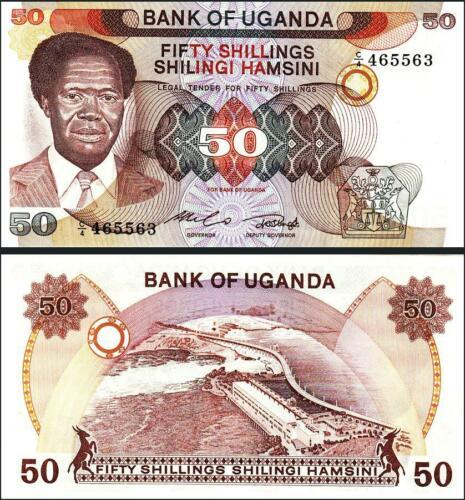Uganda 50 shillings 1985