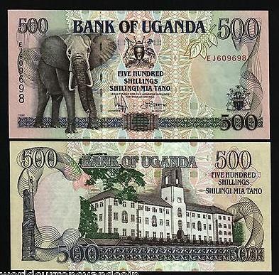 Uganda 500 shillings 1996