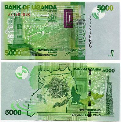 Uganda 5000 shillings 2015