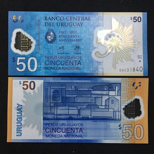 Urugoay 50 pesos 2018 - polymer